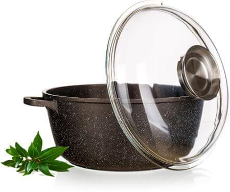 Banquet Garnek PREMIUM Dark Brown 28 cm, z pokrywką aroma