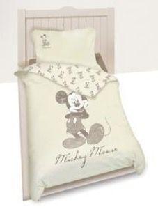 Disney povlečení s motivem Mickey krémové 140x200/65x65 cm
