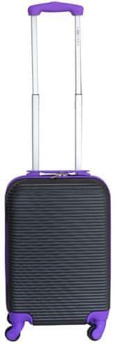 Leonardo Palubní kufr Duo Color černá-fialová