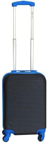 Leonardo Palubní kufr Duo Color černá-modrá