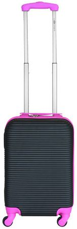Leonardo kabinski kovček Duo Color, črn/roza