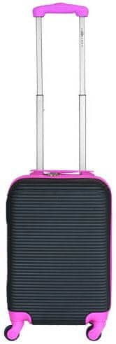 Leonardo Palubní kufr Duo Color černá-růžová