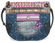 Desigual torebka damska niebieski Brooklyn Exotic Jean