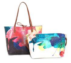 Desigual ženska ročna torbica večbarvna Capri Aquarelle