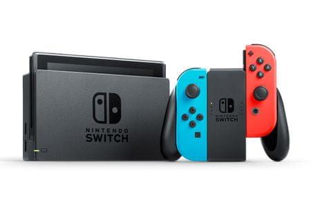 Nintendo Switch + Joy-Con, Kék/Piros