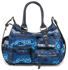 Desigual ženska torbica plava London Medium Barbados