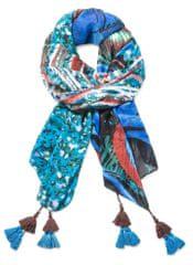 Desigual dámský vícebarevný šátek Slim Rectan Blue Nuit