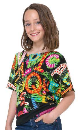 Desigual dekliška majica Swan 152 večbarvna
