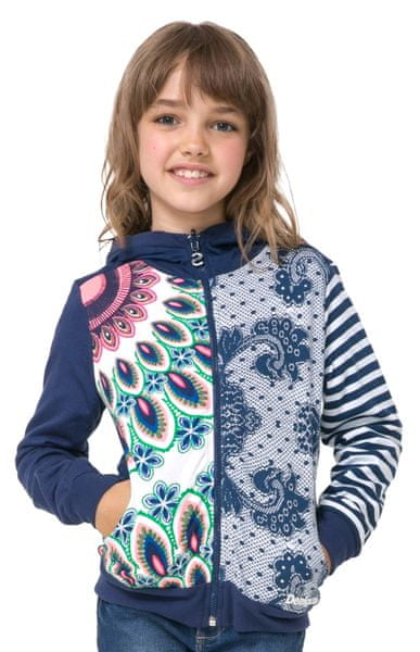 Desigual dívčí mikina Chauter 116 modrá