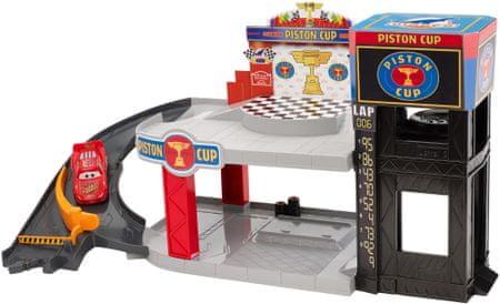 Cars Disney Cars Piston Cup Dwupoziomowy Garaż DWB90