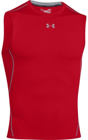 Under Armour koszulka HG Armour SL Red Steel XXL