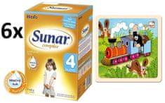 Sunar Complex 4 - 6 x 600g + Puzzle Krtko a mašinka