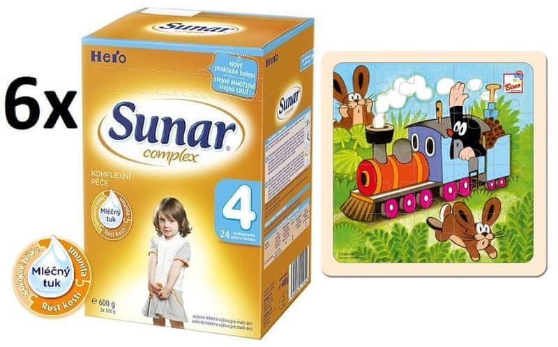Sunar Complex 4 - 6 x 600g + Puzzle Krtek a mašinka