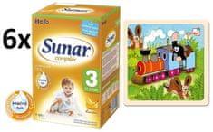 Sunar Complex 3 banán - 6 x 600g + Puzzle Krtek a mašinka