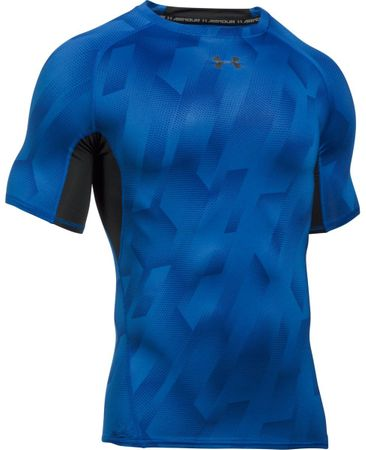 Under Armour majica HG Armour Printed SS, modra, S