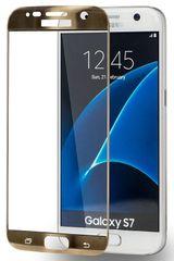 Azuri Tvrzené sklo Edge2Edge (Samsung Galaxy S7), zlatá