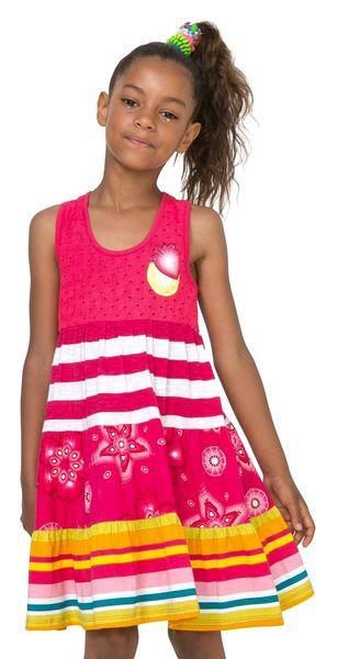 Desigual dívčí šaty Kampala 116 vícebarevná