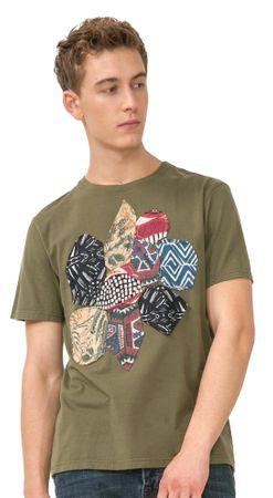 Desigual T-shirt męski Nicogim S khaki