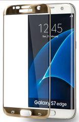 Azuri Tvrzené sklo Edge2Edge (Samsung Galaxy S7Edge), zlatá