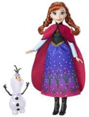 Disney Princezna Anna s třpytivými šaty a kamarádem