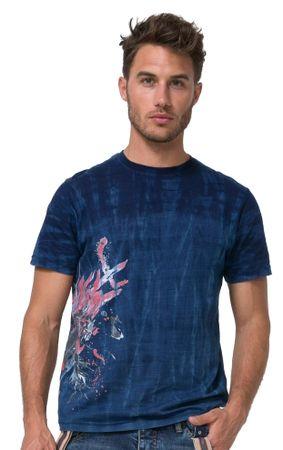 Desigual moška majica Flor Dye M modra