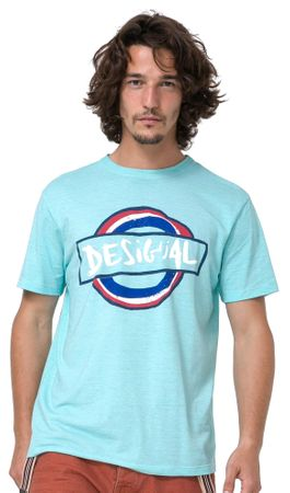 Desigual moška majica Elias M turkizna