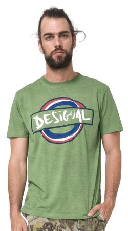 Desigual pánské tričko Elias M zelená