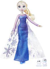 Disney Princezná Elsa s trblietavými šatami a kamarátom