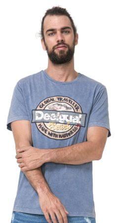 Desigual moška majica Salem L modra