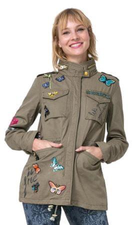 Desigual dámská bunda Taque 38 khaki