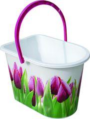 York Vědro Tulip 14 l růžové