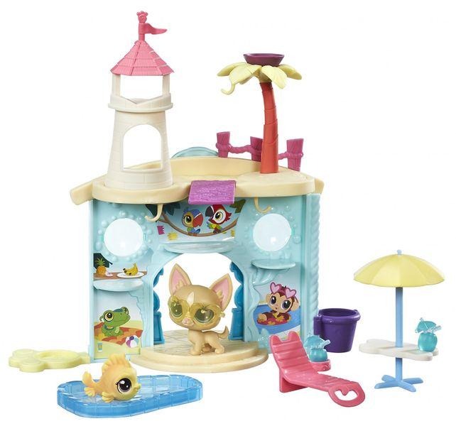 Littlest Pet Shop Hrací set se 2 zvířátky Vodní park