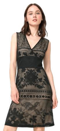Desigual ženska obleka Elga L črna