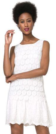 Desigual ženska obleka Barcelona 42 bela