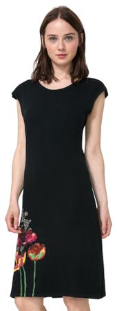 Desigual ženska obleka Sara XL črna