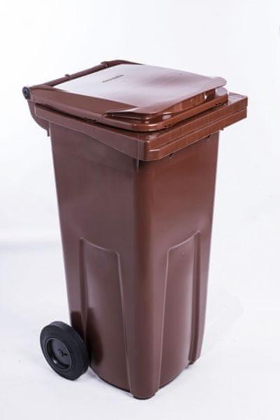 J.A.D. TOOLS popelnice 240 l hnědá plastová