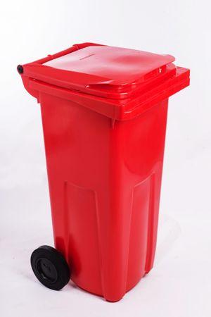 J.A.D. TOOLS plastikowy kosz na odpadki 120 l czerwony