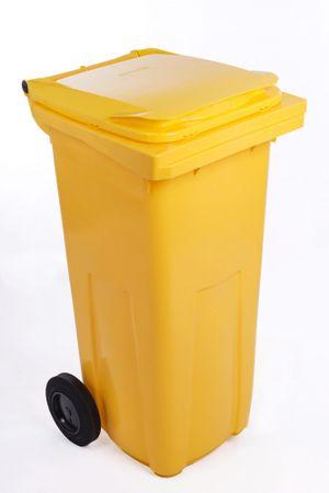J.A.D. TOOLS plastikowy kosz na odpadki 120 l żółty