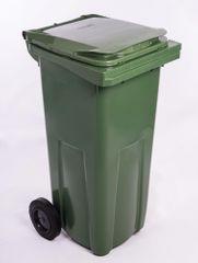 J.A.D. TOOLS plastikowy kosz na odpadki 120 l zielony