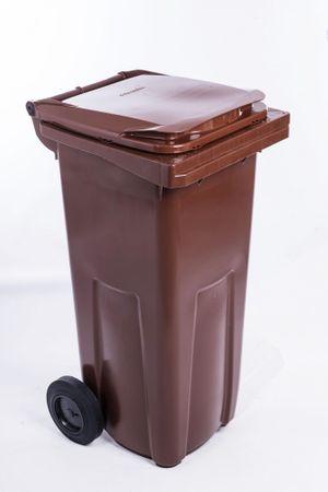 J.A.D. TOOLS plastikowy kosz na odpadki 120 l brąz