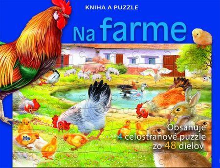 Kolektív: Na farme - Kniha a puzzle