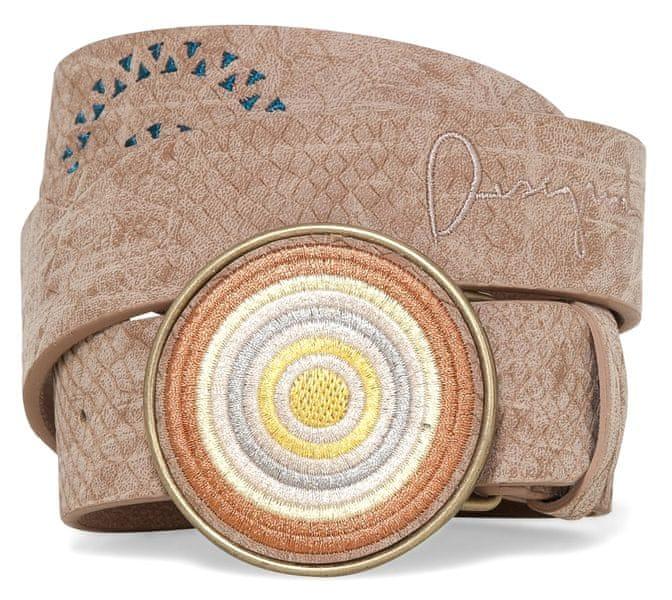Desigual dámský pásek Chapon Bordado Calypso 90 béžová