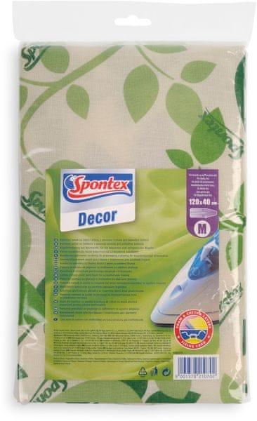 Spontex Decor potah na žehlicí prkno M s listy