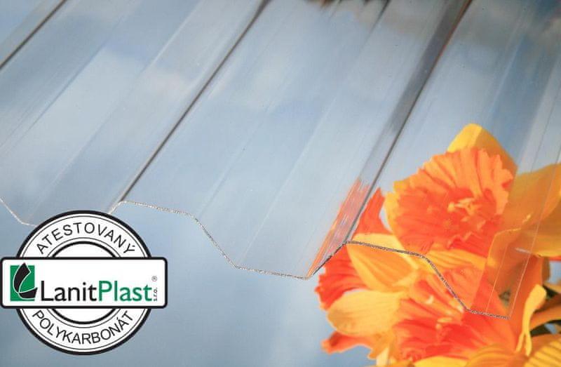 LanitPlast Trapézový polykarbonát Marlon CS síla 0,6 mm čirý 1,06x3 m