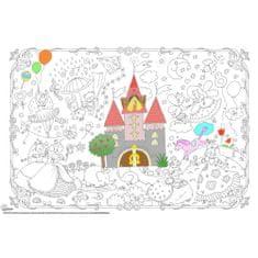 Omalovánky MAXI 120x80 cm Princezny