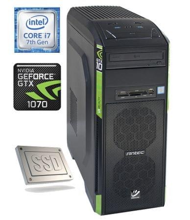 mimovrste=) namizni računalnik Gaming-10 i7-7700/16GB/256GB+2TB/GTX1070/FreeDOS