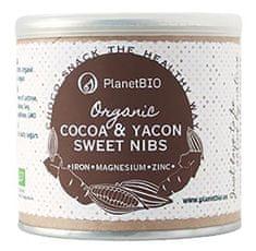 PlanetBIO kakavova zrna z yacon čokolado, 120 g