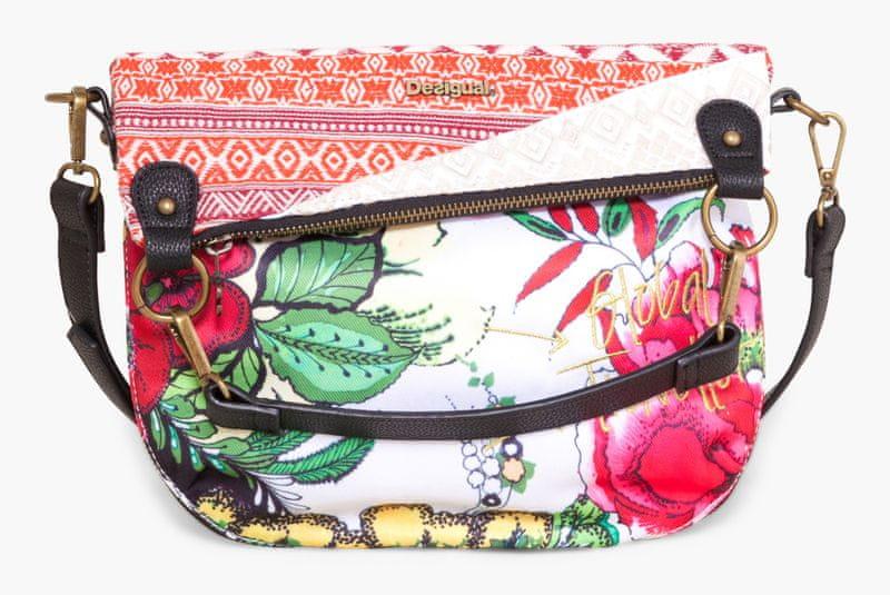 Desigual vícebarevná kabelka Folded madeira