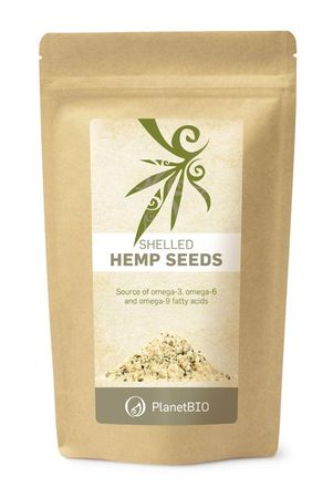 PlanetBIO konopljina oluščena semena, 300 g