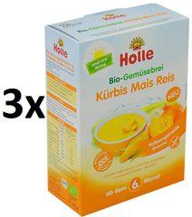 Holle Bio zeleninová kaša,tekvica ,kukurica, ryža - 3 x 175g